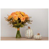 Цветочная Композиция Чайные Розы Ширина 27 смxВысота 36 см- Без Упаковки - Santalino