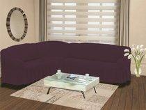 """Чехол на диван угловой левосторонний """"BULSAN"""" 2+3 посадочных мест, цвет фиолетовый - Bulsan"""