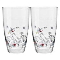 """Набор стаканов для воды Krosno """"Велосипед"""" 450мл, 2 шт - Krosno"""