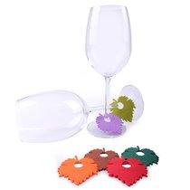 Маркеры для бокалов Wine Leaf 6шт., цвет разноцветный - Koala