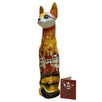 Статуэтка фарфоровая Кошка Городок - Веселый фарфор