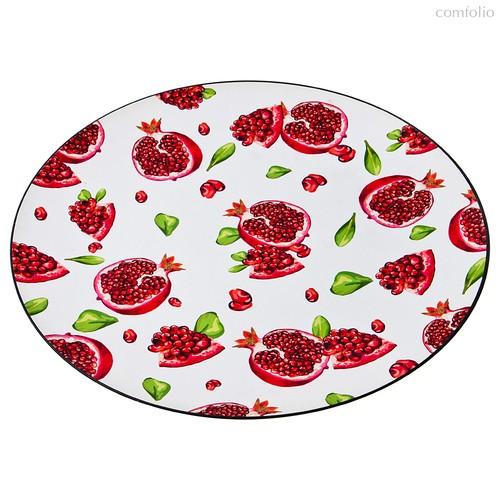 Поднос Итальянская Коллекция Гранаты Диаметр 40 см - BWSS Kitchenware