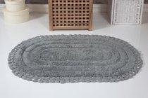 "Коврик для ванной ""MODALIN"" кружевной YANA 60x100 см 1/1, цвет серый, 60x100 - Bilge Tekstil"