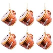 Набор Из 6-Ти Декоративных Изделий Кофейная Чашечка 8x6,9x7 см Цвет Коричневый С Золотом - Dalian