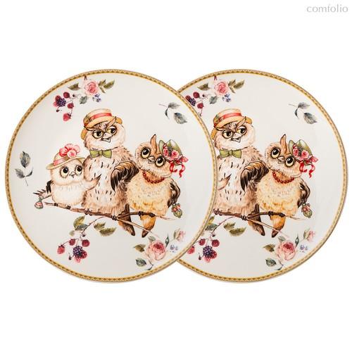 Набор Тарелок Закусочных Lefard Owls Party 2 Шт. 23 см - Jinding
