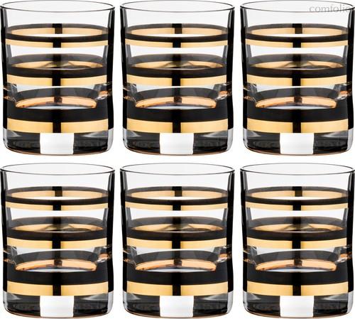 Набор стопок WELLNESS (GOLD & BLACK) 60 млВЫСОТА=6 СМ. - Crystalex