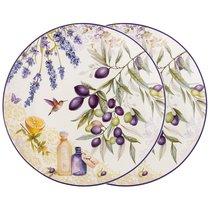 Набор Тарелок Закусочных Прованс Оливки Из 2 Шт, цвет фиолетовый, 20 см - Meizhou Yuesenyuan