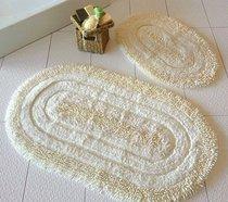 Коврик для ванной DO&CO (60Х100 см/50x60 см) OVAL EFES, цвет кремовый, 50x60, 60x100 - Meteor Textile
