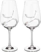 Набор бокалов для вина из 2 шт. TURBULENCE 550 мл ВЫСОТА 25 см (КОР 24Набор.) - Crystalex