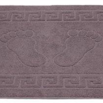 Полотенце-коврик для ног Grey (серый), цвет серый, 50x70 - Roseberry