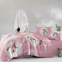 Постельное белье Ranforce Ulya, цвет розовый, размер Евро - Altinbasak Tekstil