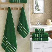 "Комплект махровых полотенец ""KARNA"" BALE 50х80*2-70х140*2 см 1/4, цвет темно-зеленый, 50x80, 70x140 - Bilge Tekstil"