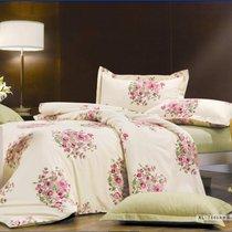 Комплект постельного белья П-19, цвет бежевый, Семейный - Valtery