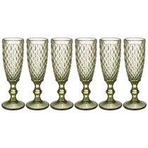 Бокалы для шампанского Пина 6 шт. 150мл Серия Muza Color Высота 20 см - Honkong Maple