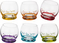 Набор стаканов из 6 шт. CRAZY NEW YEAR 390 мл ВЫСОТА 9 см - Crystalex