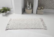"""Коврик для ванной """"MODALIN"""" с бахромой LOTUS 50x80 см 1/1, цвет серый, 50x80 - Bilge Tekstil"""