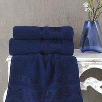 Полотенце махровое Karna Rebeka, цвет синий, размер 70x140 - Karna (Bilge Tekstil)