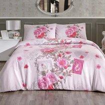 Постельное белье Ranforce Sardinya, цвет розовый, размер 1.5-спальный - Altinbasak Tekstil