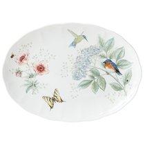 "Блюдо овальное Lenox ""Бабочки на лугу.Птицы"" 41см - Lenox"