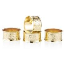 Набор колец для салфеток Queen Anne 4,5см, 4шт, сталь, золотой цвет - Queen Anne