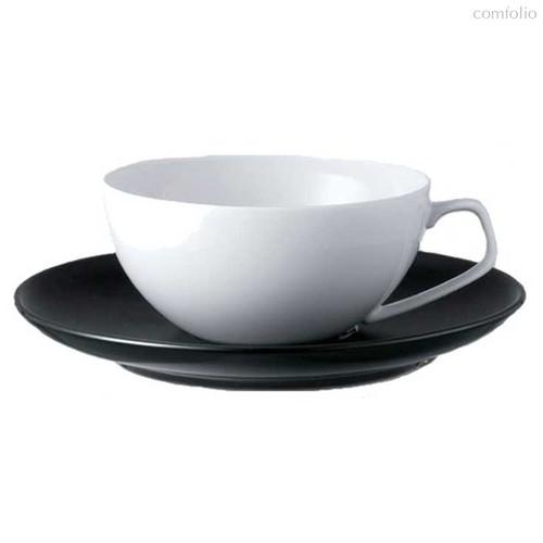 """Чашка чайная с блюдцем 240мл """"ТАК Гропиус"""" (черный/белый) - Rosenthal"""