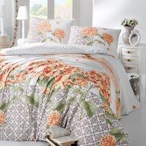 Постельное белье Ranforce Larin, цвет оранжевый, размер Евро - Altinbasak Tekstil
