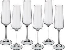 Набор Бокалов Для Шампанского Из 6 шт. Naomi / Corvus 160 мл. Высота 24 см - Crystalite Bohemia