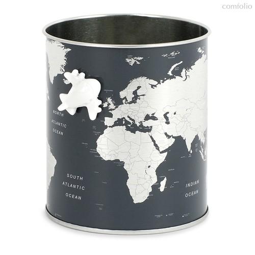 Подставка для канцелярских принадлежностей Globe, цвет серый - Balvi