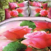 Комплект постельного белья RS-135, цвет розовый, размер Евро - Famille