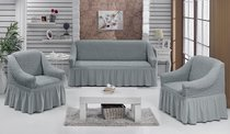 "Набор чехлов для дивана ""BULSAN"" 3+1+1, цвет серый - Bulsan"