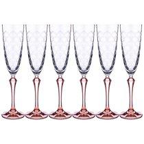 Набор Бокалов Для Шампанского Elisabeth Brown Smoke Из 6 шт. 200 мл Высота 25,5 см - Crystalex