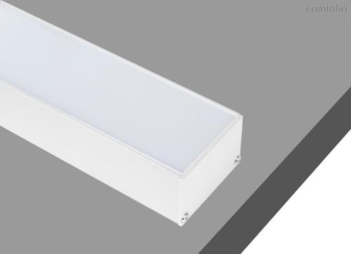 Donolux накладной алюминиевый профиль, 2 метра, габариты в сборе: 50х35х2000 мм. Белый матовый, RAL9 - Donolux