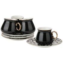 Кофейный Набор На 4Пер. 8 пр. 90 мл , Черный, цвет черный - Rongshengyuan