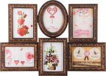 Фоторамка-Коллаж 60x44x3 см На 6 Фото 13x18 см - Polite Crafts&Gifts