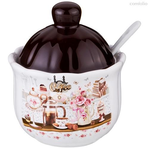 Сахарница Coffee 10x10x12 см 280 мл - Huachen Ceramics