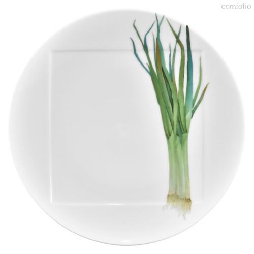 """Тарелка обеденная Noritake """"Овощной букет"""" """"Зеленый лук"""" 27см - Noritake"""