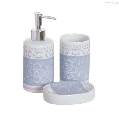 Набор для ванной комнаты Ethnic, цвет белый - D'casa