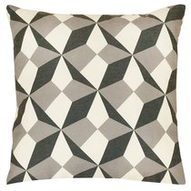 Ткань хлопок купоны Оптикал ширина 220 см/ L702-020, цвет белый/черный - Altali