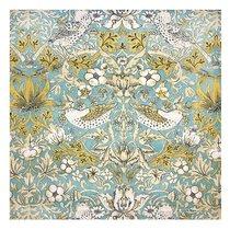 """Скатерть с рисунком """"Бирюзовый рай"""", P433-1901/2, 170х220 см, цвет бирюзовый - Altali"""