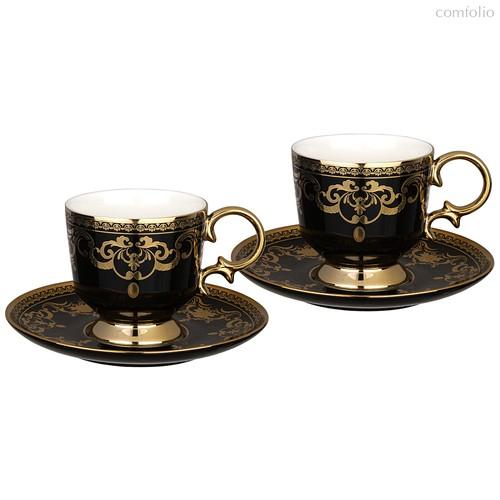 Чайный Набор Lefard На 2 Персоны 4 Пр. 250 мл Черный - Rongshengyuan