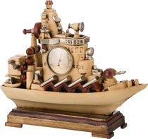 Часы Настольные Кварцевые Корабль 37x11,5x32 см Диаметр Циферблата 7 см - Hong Kong Po Leet Co