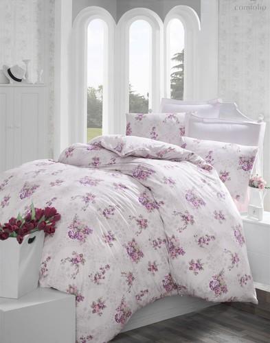 Постельное белье Ranforce Arnes, цвет сиреневый, размер 1.5-спальный - Altinbasak Tekstil