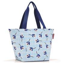 Сумка Shopper M leaves blue - Reisenthel