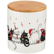 Банка Для Сыпучих Продуктов Коллекция Party Cats 650 мл 10,3x10,3x12 см - Zhenfeng Ceramics
