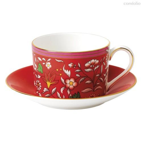 Чашка чайная с блюдцем Wedgwood Вандерласт Малина 150мл - Wedgwood