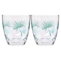 """Набор стаканов для воды Krosno """"Пальмовые листья"""" 370мл, 2 шт - Krosno"""
