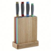 Набор из 4 ножей и 4 разделочных досок в подставке Assure - Viners