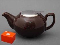 Заварочный чайник С Металлической Крышкой 600 мл, цвет коричневый - Hebei Grinding Wheel Factory