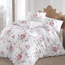 Постельное белье Ranforce Admire, цвет бордовый, размер Евро - Altinbasak Tekstil
