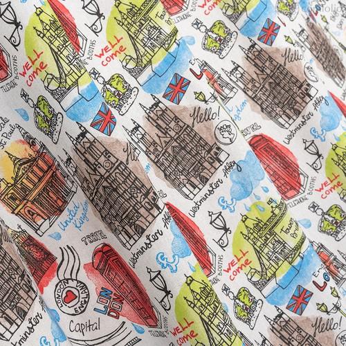 Ткань лонета Тауэр Бридж ширина 280 см/ 3084, цвет разноцветный - Altali